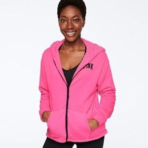 VS reversible L Sherpa/sweatshirt full zip hoodie